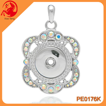 Wholesale Snap Button Jewelry,Crystal Charm Pendant,Snap Press Button Pendant Jewelry