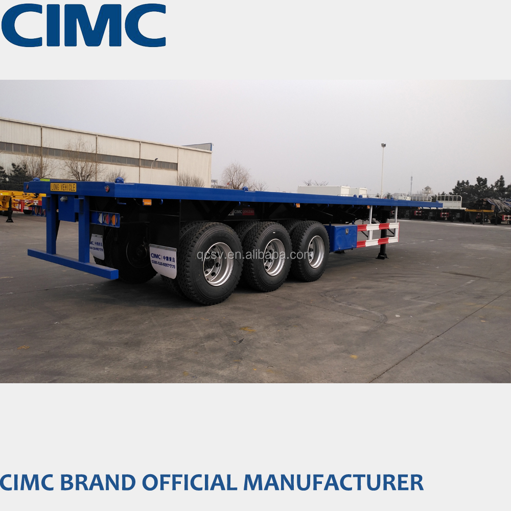 CIMC 60ton flatbed semi trailer for cargo and container loading