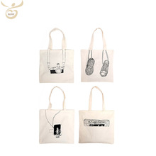Custom Wholesale Reusable Cheap Cotton Fabric Shopping Bag Print Recycle Grocery Cotton Canvas Tote Bag