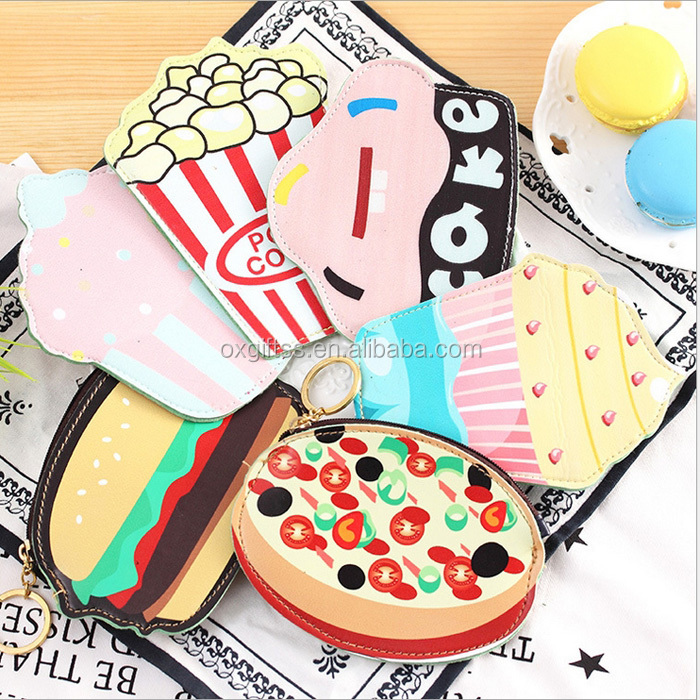 OXGIFT Made in China Alibaba wholesale Manufacture Amazon wallet Ice cream leather woman Hand Cartoon pu lady Purse women