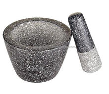 food safe kitchenware natural stone polished granite mortar and pestle