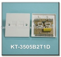 (KT-3505B2T1D) UK Master Double Telephone Wall Plate