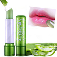 Private Label Aloe Vera 99% Magic Color Change Waterpoof Long Lasting Green Tube Lipstick