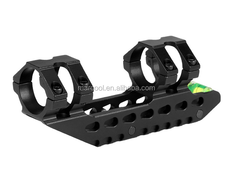 Marcool 30MM One Piece double ring scope mount Tilted-Mount With Bubble Level