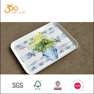 2015 Hot selling small melamine food serving tray