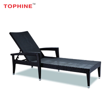 TOPHINE Rattan Furniture Modern Classic Luxury Outdoor High Used Wicker Chaise Lounge