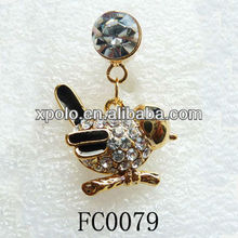 Gold Plating/Clear Rhinestone/Animal Shape/Phone Ear Cap/Headphone Jack Dust Proof Plug For Iphones