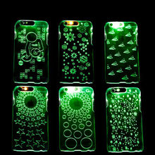 Shiny LED Flash Light Luxury Case For Apple Iphone 6 4.7'' 5 / 5S Luminous Glitter Crystal Mobile Phone Cover For Iphone 6 Plus