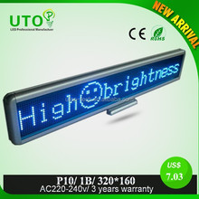 Latest Technology Products bule Color Led P10 led display panel led display for taxi