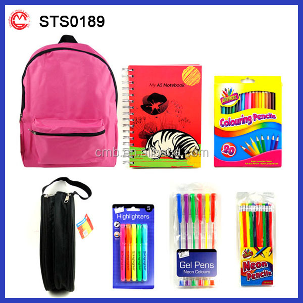 Custom New Brand Fashionable School Stationary Set