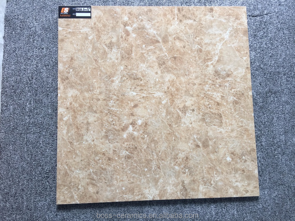 Chinese Factory Grade AAA 600X600mm Brown glazed polished marble Interior ceramic flooring tiles