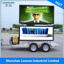 rental mobile traffic safety sign outdoor color led display board