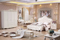 white color luxury classic vintage king bedroom set furniture