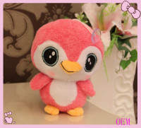 Cute custom soft stuffed plush pink bird toy