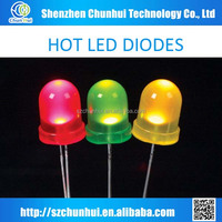 10mm diffused leds, red led diodes