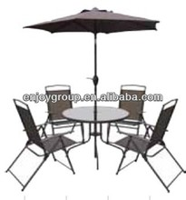6 pcs cheap patio bistro set with umbrella textline set