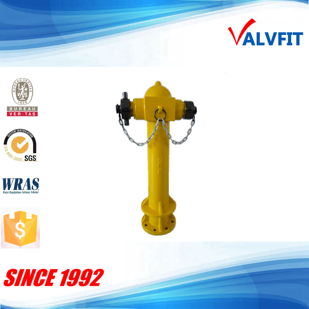 ductile cast iron BS750 pillar fire hydrant