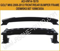 VW Golf MK6 2008-2012 Front Bumper Replacement,Steel,OEM 5K0807109M