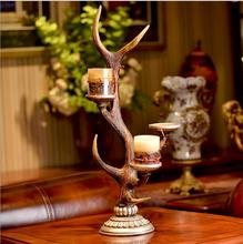 European factory price decorative antique antler candle holder for sale