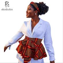 Shenbolen African <strong>belt</strong> ankara wax African print fashion peplum <strong>belt</strong> for Women