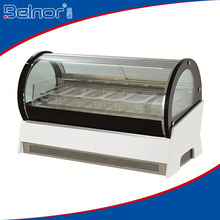 F-QT640 Mini ice cream display freezer/ countertop ice cream showcase/ ice cream refrigerated showcase