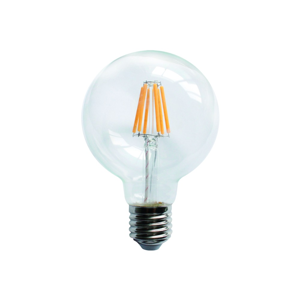 edison glass pendant light filament decorative led bulb light g80 glass light 6W