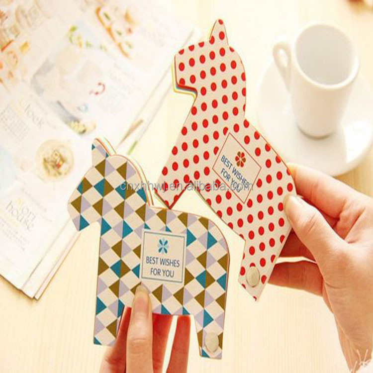 animal shaped sticky notes/customized memo stickers