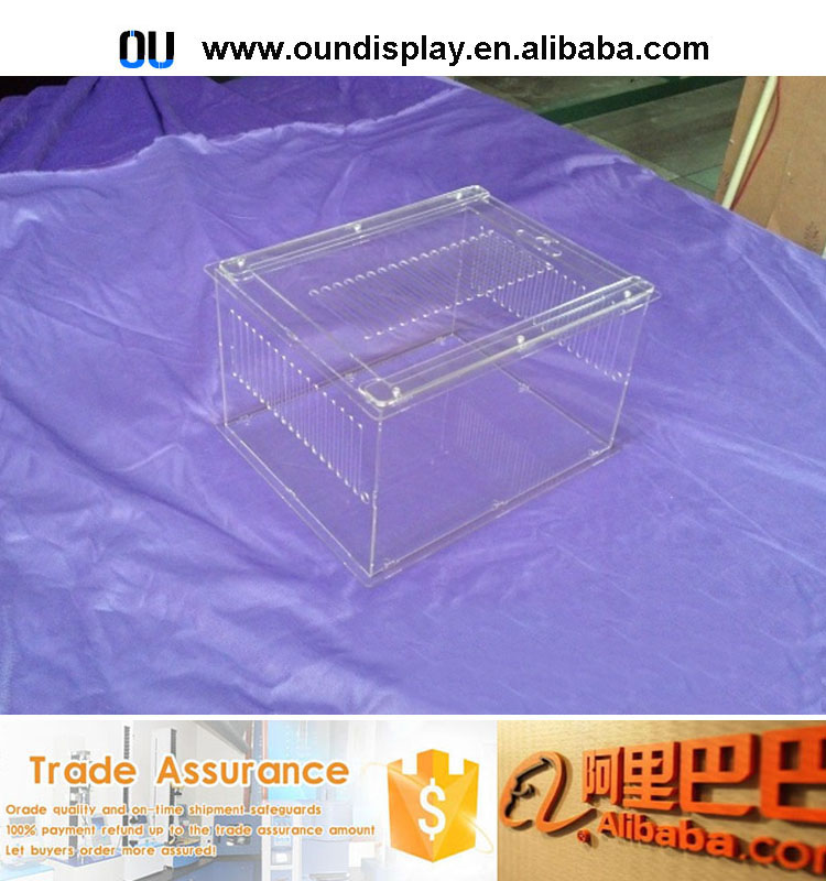 plastic pet dog kennel display eco-friendly acrylic hamster kennel cage