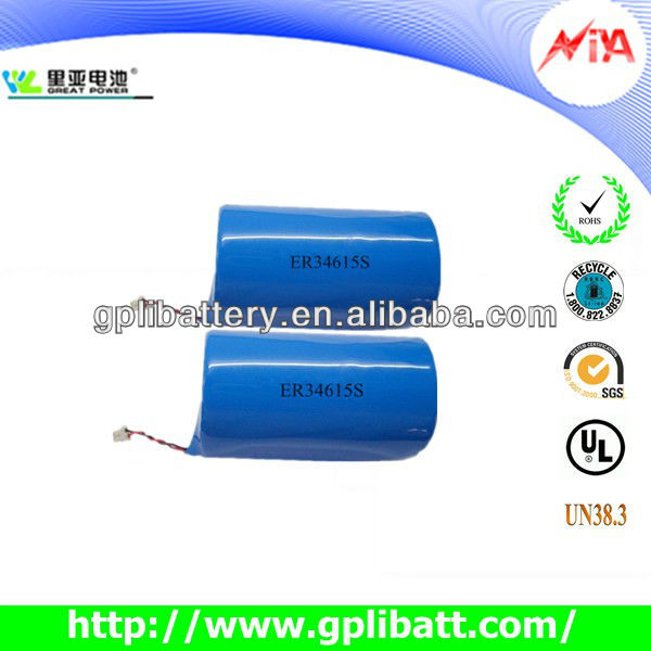 3.6V13ah high temperature lithium batteries er34615S