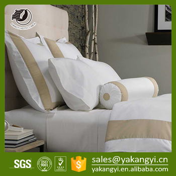 Yakangyi Bed Linen Cotton Hotel Frameworks Bedding Set