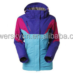 2015 Latest women's Waterproof & Windproof Ski Suit of jining powersky