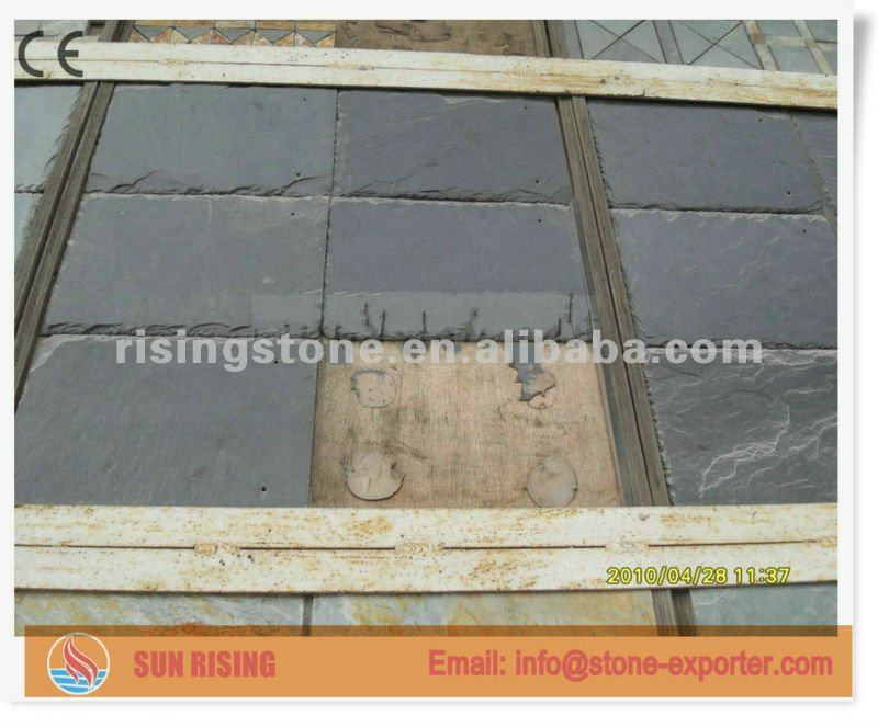 Roofing slate with black color