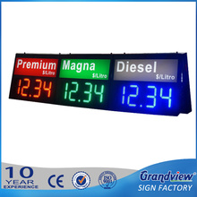 Petrol/oil/fuel service remote control station gas price led electric display/sign