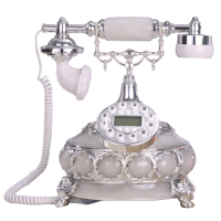 Resin Material Antique Telephone Office Decor