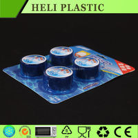 clear blister plastic round toy packaging box/tray with 4 compartments