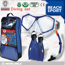 factory swimming set for diving,swimming equipment, diving mask and snorkel sets