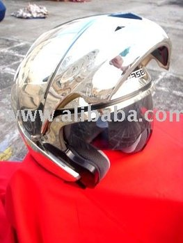 Masei 803 Chrome Silver Flip-up Motorcycle Helmet