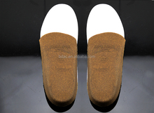 slight Arch Supports heel cup Comfort Cork Shoe Insoles cork sole