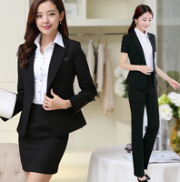 Fashionable Styles Ladies Church Wastern Black New Design Ladies Office Skirt Suit