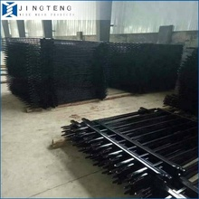 Anping Manufactory Supply Cheap Black powder coated security backyard metal steel picket fence with high quality