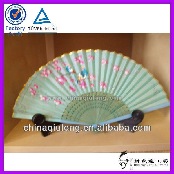Japanese handicraft Bamboo &Paper Hand fan