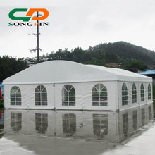 10x10m luxury white dome tents for events with clear windows