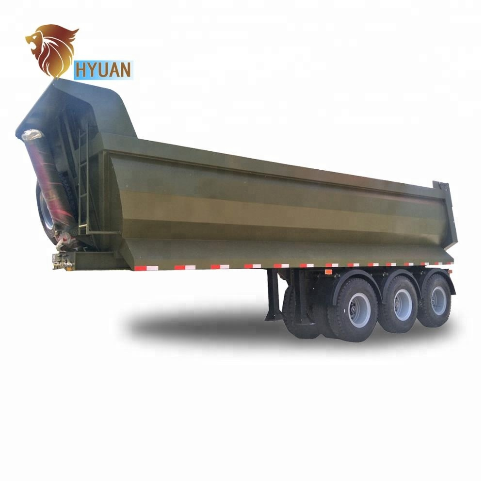Hot sale 3 <strong>Axles</strong> 50t 60t Tipper trailer/ <strong>Rear</strong> Dump Semi-trailer for sale