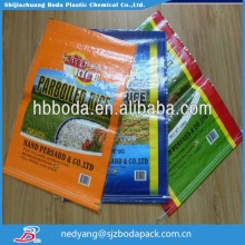 plastic packaging material custom printed bag pp woven bags 100kg plastic bag for rice 50kg