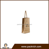 Customized promotion China supplier paper carrier gift make wine bag