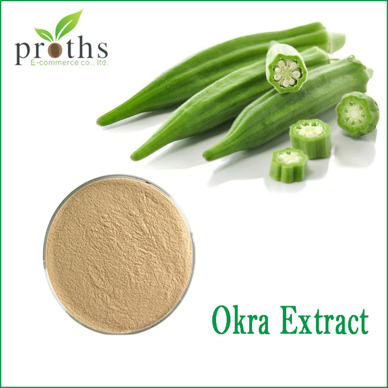 China new products 100% pure bulk okra extract powder