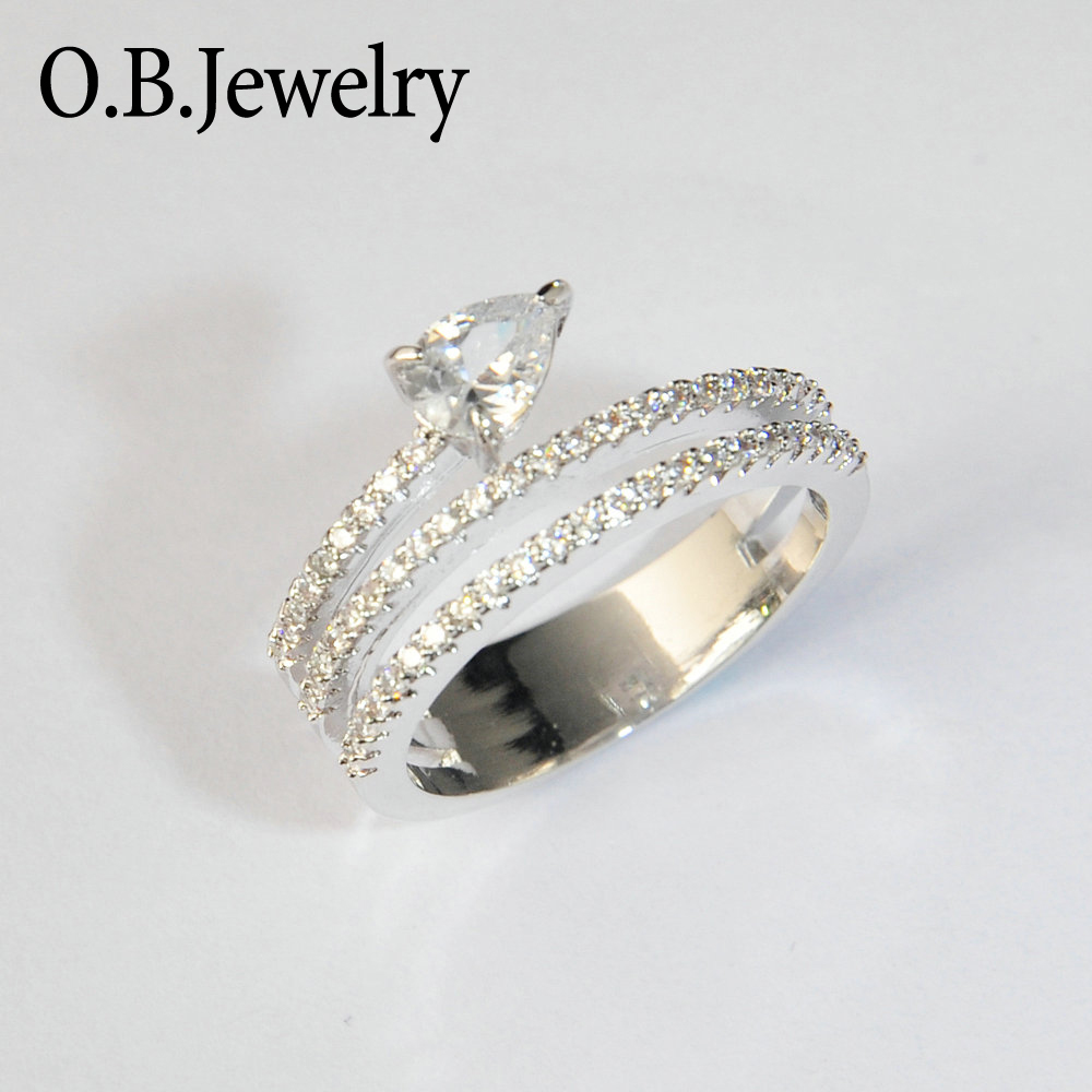 925 Sterling Silver Designs AAA Clear Zircon Graduation Gifts Jewelry Ring