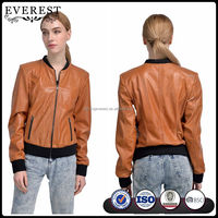 Leather Bomber Jacket Genuine Lamb Nappa Leather Jacket