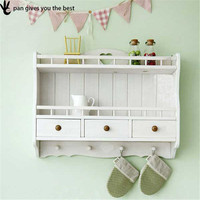 Convenient clothing wall mounted clothes hanger rack with drawers