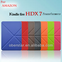 Transformers PU Leather Holster Cover Case For Amazon Kindle Fire HDX7